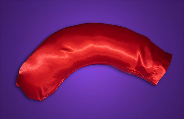 Face-Saver Pillow w/Red Satin Pillowcase